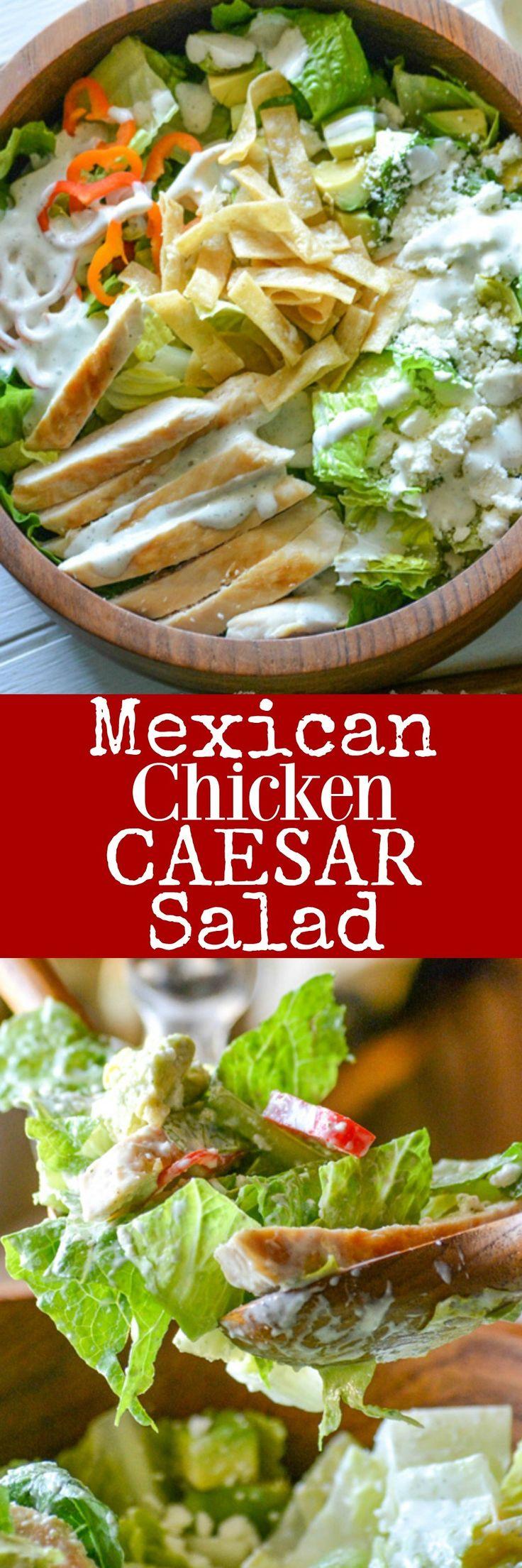 Recette minceur cette salade c sar mexicaine au poulet - Recette salade cesar au poulet grille ...