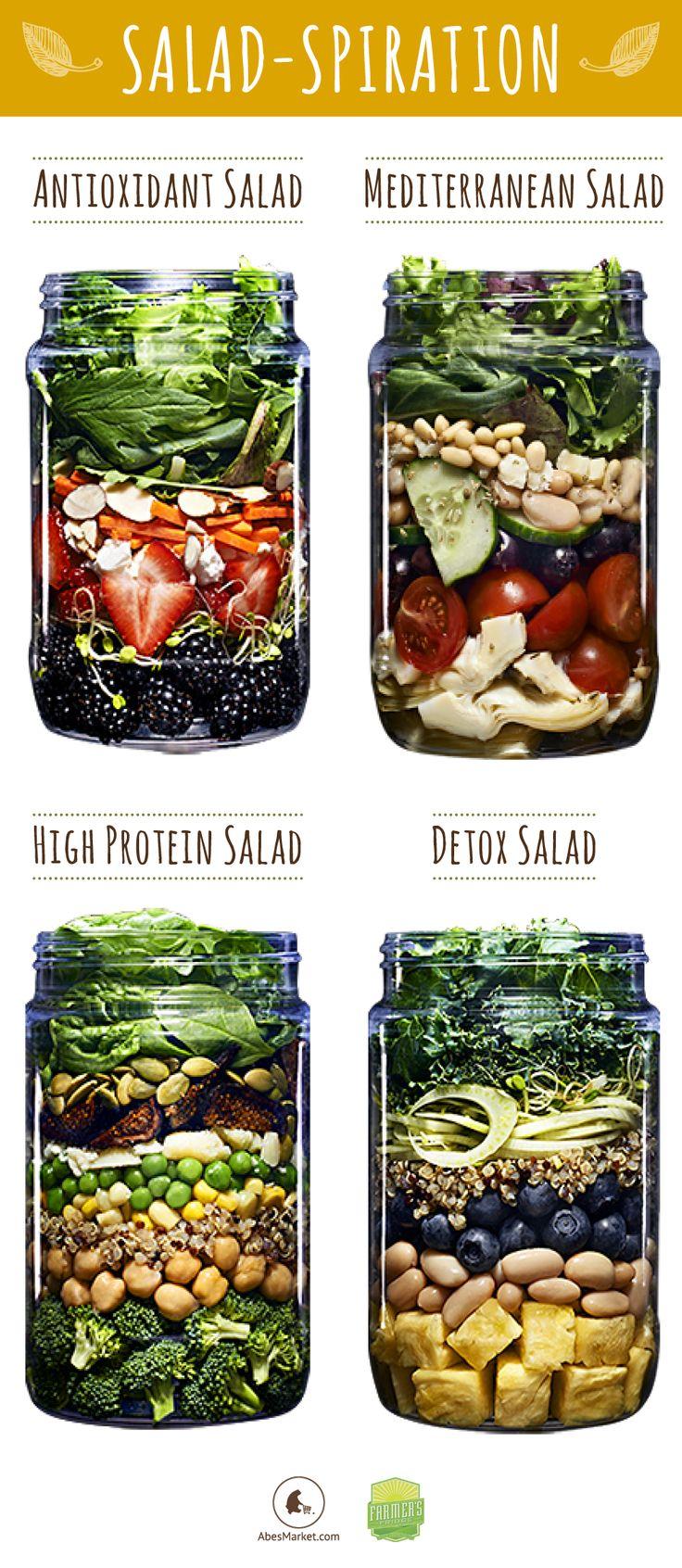 recette minceur 30 id es de salades en bocal virtual fitness votre magazine d. Black Bedroom Furniture Sets. Home Design Ideas