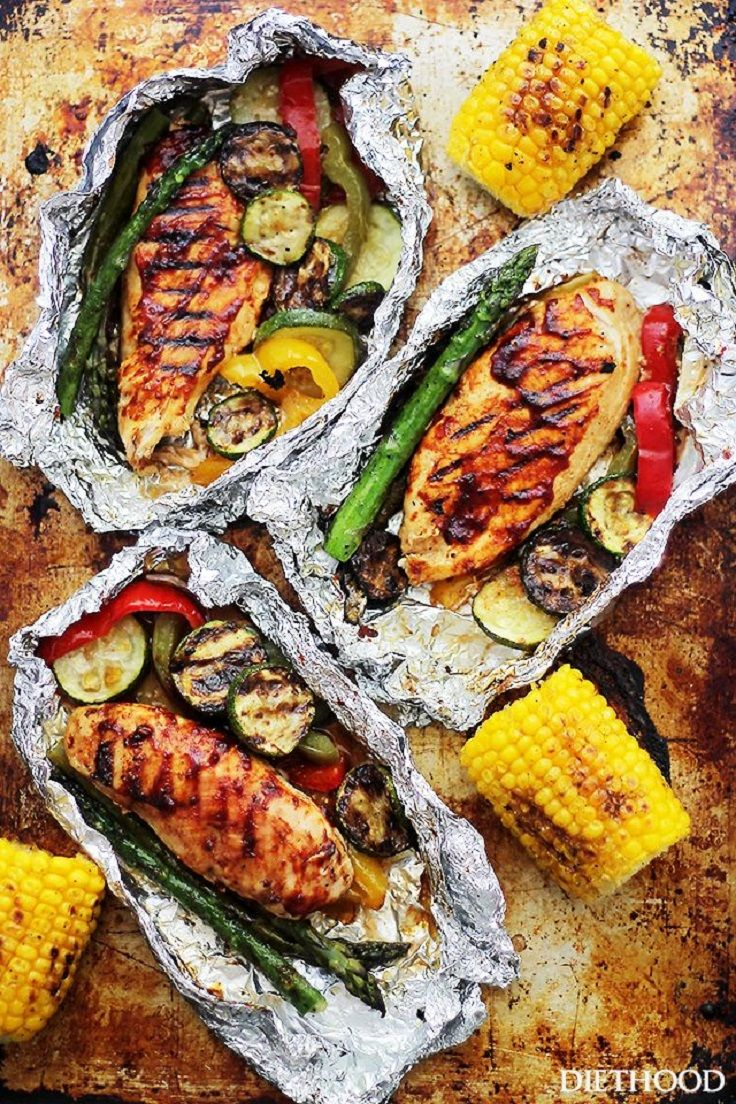 Healthy motivation poulet grill au barbecue et l gumes en papillote 10 virtual - Poulet grille au barbecue ...