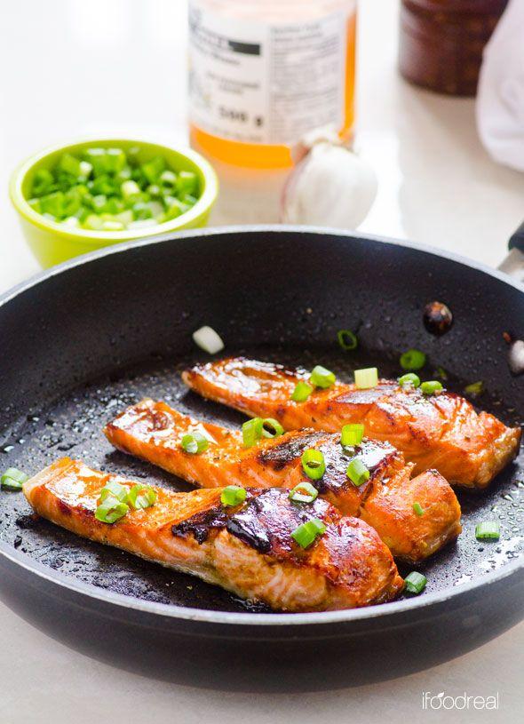 healthy motivation recette de saumon l 39 ail au miel croustillant facile croustillant l. Black Bedroom Furniture Sets. Home Design Ideas