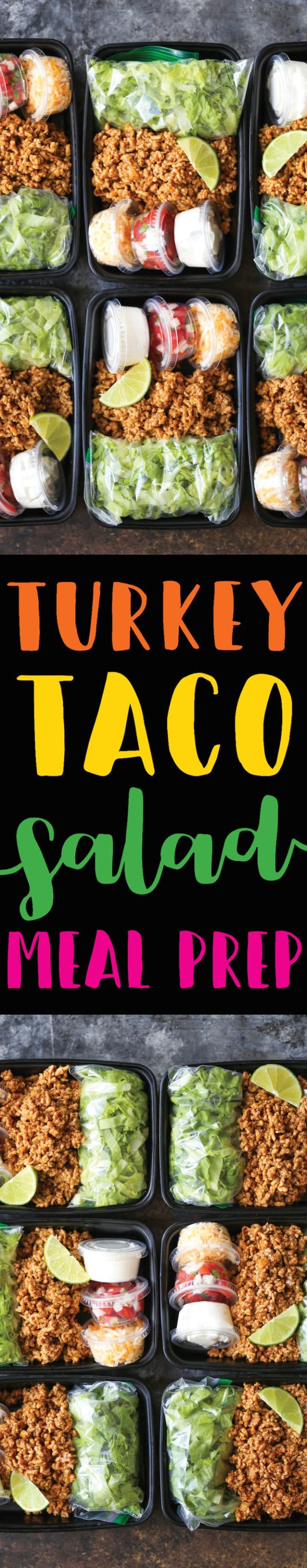 healthy motivation pr paration de repas la salade de tacos la dinde un repas bien plus. Black Bedroom Furniture Sets. Home Design Ideas