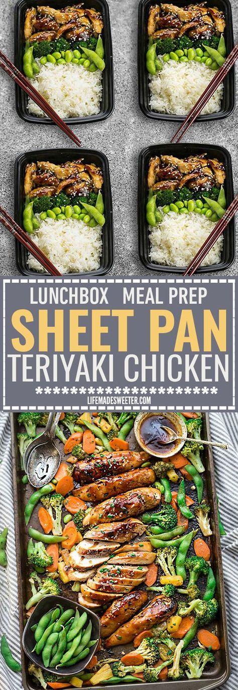 healthy motivation une feuille de poulet teriyaki pan fait le repas de semaine facile parfait. Black Bedroom Furniture Sets. Home Design Ideas