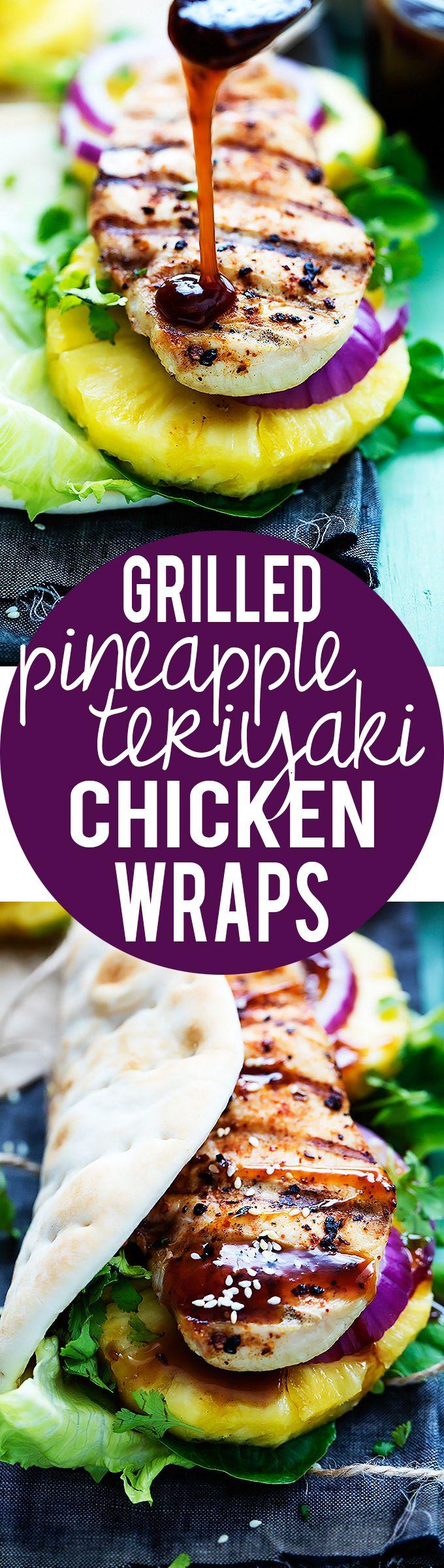 Programme du r gime roul s de teriyaki au poulet grill for Regime ananas