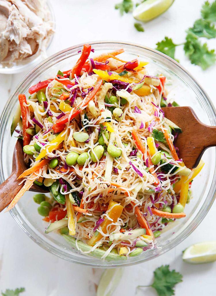 55 Vaisselle saine d'été - Salade froide de nouilles asiatiques