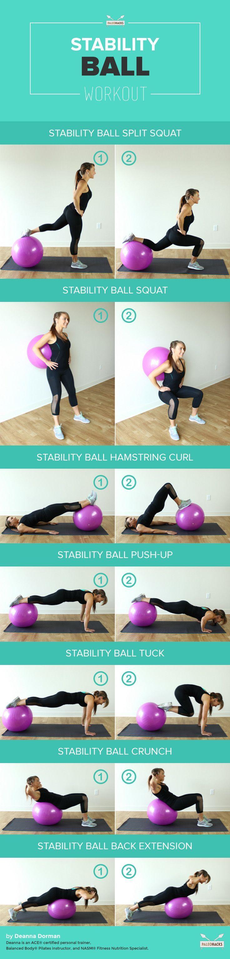 Beautiful Abdo Exercice : Ballon de Fitness: 7 Exercices à Réaliser avec un  ID85