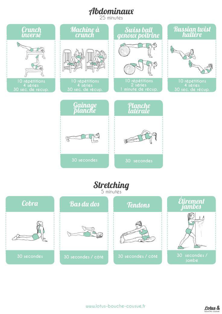 fiche exercices abdos