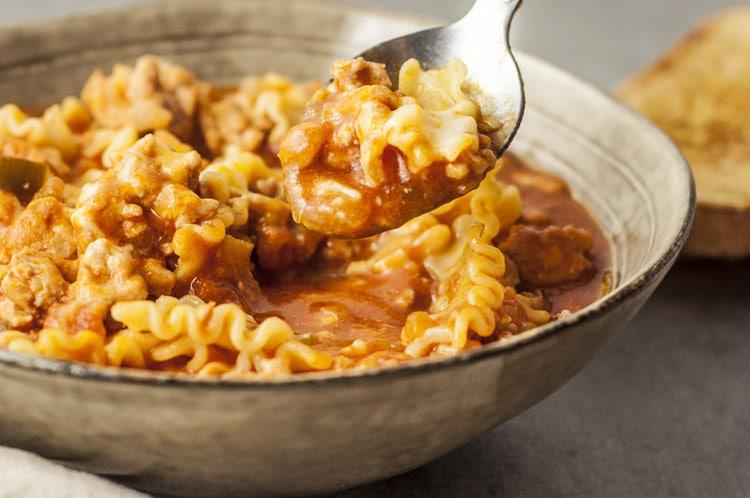 Instant Pot Turkey Lasagna Soup
